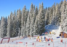 Het stadion van kinderen De toevlucht Schladming van de ski oostenrijk Stock Foto