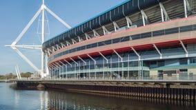 Het Stadion van het prinsdom in Cardiff, Wales stock afbeelding