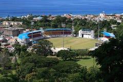 Het stadion van Scoccer stock afbeelding