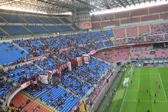 Het stadion van Stadio Giuseppe Meazza in Milaan, Italië Stock Foto's