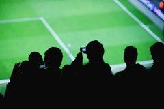 Het stadion van voetbalventilators Stock Foto
