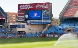Het stadionscorebord van Vicente Calderon stock afbeelding