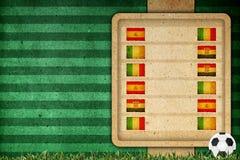Het stadium van de groep op voetbal 2012 - groep C Royalty-vrije Stock Afbeeldingen