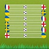 Het stadium van de groep van voetbal Stock Afbeeldingen