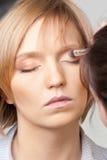 Het stadium van de make-up Stock Afbeeldingen