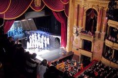 Het stadium van het de Operahuis van Boedapest stock fotografie