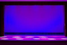 Het stadium van het theater Stock Afbeeldingen
