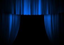 Het stadiumgordijn van het theater Stock Foto's