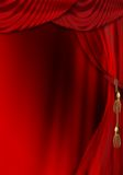 Het stadiumgordijn van het theater royalty-vrije illustratie