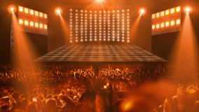 Het stadiumlicht van het menigteoverleg