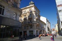 Het stadscentrum Brno op 30 April, 2016 Brno is de tweede - grootste stad in de Tsjechische Republiek Royalty-vrije Stock Afbeelding