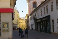 Het stadscentrum Brno op 30 April, 2016 Brno is de tweede - grootste stad in de Tsjechische Republiek Stock Afbeeldingen