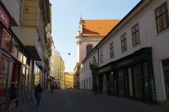 Het stadscentrum Brno op 30 April, 2016 Brno is de tweede - grootste stad in de Tsjechische Republiek Royalty-vrije Stock Foto