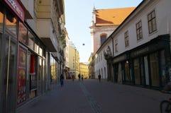 Het stadscentrum Brno op 30 April, 2016 Brno is de tweede - grootste stad in de Tsjechische Republiek Stock Fotografie