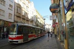 Het stadscentrum Brno op 30 April, 2016 Brno is de tweede - grootste stad in de Tsjechische Republiek Royalty-vrije Stock Afbeeldingen