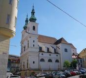 Het stadscentrum Brno op 30 April, 2016 Brno is de tweede - grootste stad in de Tsjechische Republiek Royalty-vrije Stock Fotografie