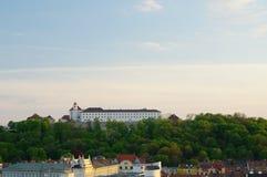 Het stadscentrum Brno op 30 April, 2016 Brno is de tweede - grootste stad in de Tsjechische Republiek Stock Afbeelding