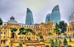 Het stadscentrum van Baku Stock Foto
