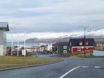 Het Stadscentrum van Grundarfjordur, Snaefellsnes-Schiereiland in IJsland Royalty-vrije Stock Foto