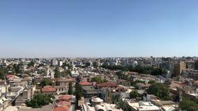 Het stadscentrum van Nicosia, Cyprus stock footage