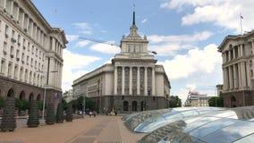 Het stadscentrum van Sofia, Bulgarije stock videobeelden