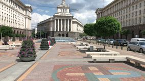 Het stadscentrum van Sofia, Bulgarije stock footage