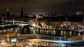 Het stadscentrum van Stockholm Stock Foto's