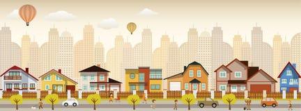 Het stadsleven vector illustratie