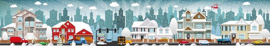 Het stadsleven (de Winter) royalty-vrije illustratie