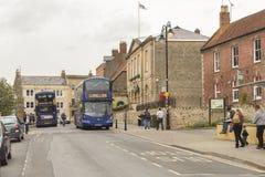 Het stadsleven in Glastonbury royalty-vrije stock foto's