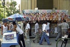 Het stadsleven in het centrum van Rio de Janeiro royalty-vrije stock fotografie