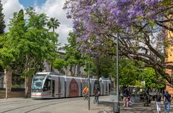 Het stadsleven in Sevilla, Spanje stock foto