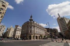 Het stadsleven - Victory Avenue - Boekarest, Roemenië stock afbeeldingen