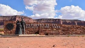 Het Stammenpark van Navajo van de monumentenvallei Stock Fotografie