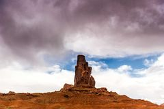 Het Stammenpark van Navajo van de monumentenvallei, Utah, de V.S. Stock Fotografie