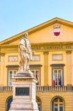 Het standbeeld aan Giuseppe Garibaldi in Luca, Italië royalty-vrije stock afbeeldingen