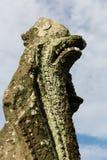 Het standbeeld in de tempel van Angkor Wat Stock Afbeelding