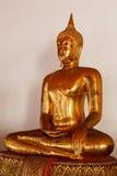 Het standbeeld dichte omhooggaand van zittingsboedha, Thailand Royalty-vrije Stock Foto