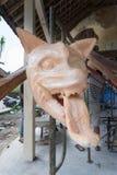 Het standbeeld die van Ogohogoh door de Hindoese dorpsbewoners van Bali als voorbereiding op Pengrupukan-nacht worden gecreeerd B stock afbeeldingen