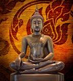 Het standbeeld grunge achtergrond van Boedha. stock afbeelding