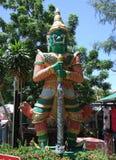 Het standbeeld is het demon Stock Afbeeldingen