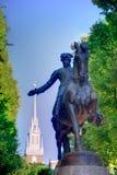 Het standbeeld Massachusetts van Boston Paul Revere Mall Stock Afbeeldingen