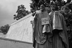 Het standbeeld Methodius van heilige Cyril und Royalty-vrije Stock Foto's