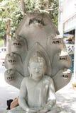 Het Standbeeld Phnom Penh Kambodja van Boedha Royalty-vrije Stock Afbeeldingen