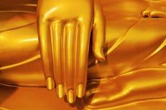 Het standbeeld` s hand van Boedha Gouden Boedha Royalty-vrije Stock Afbeelding