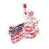 Het Standbeeld van Amerika van Vrijheid en de V.S. markeren voor een vakantie 4 Juli Royalty-vrije Stock Afbeelding