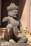 Het standbeeld van Angkor-Tempel, Kambodja Stock Afbeelding