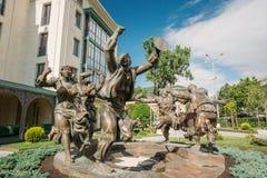 Het Standbeeld van Berikaobascupture in Tbilisi, Georgië Stock Foto's