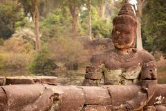 Het Standbeeld van Boedha, Angkor, Kambodja Royalty-vrije Stock Afbeeldingen