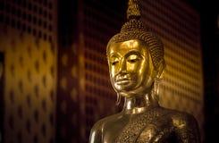 Het standbeeld van Boedha, in Ayuthaya Thailand Royalty-vrije Stock Fotografie